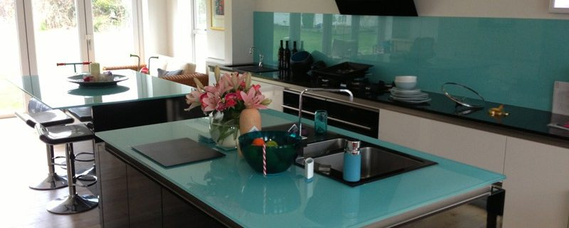 Glass kitchen Worktops brighton & Hove